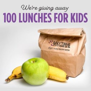 We're giving away 100 lunches for kids